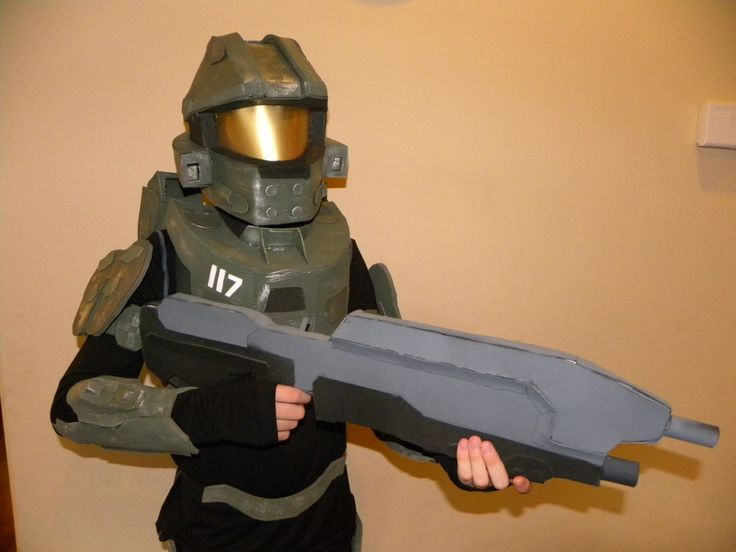 How to Make a Halo 4 Master Chief Costume #halloween #video_game #cosplay #kid