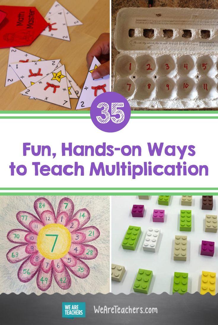 20 Fun, Hands On Ways to Teach Multiplication in 20   Teaching ...