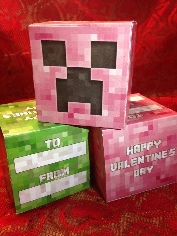 The 25+ best DIY minecraft Valentine\'s box ideas on Pinterest ...