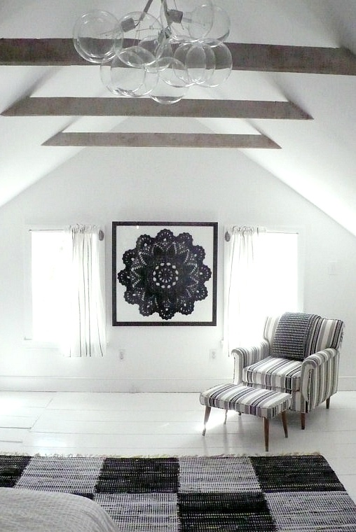 Framed crochet doily - great for home decor