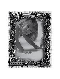Raspini Baby Cornice Giocattoli:  Cornice in argento Giocattoli, dimensioni 14 x 18 cm