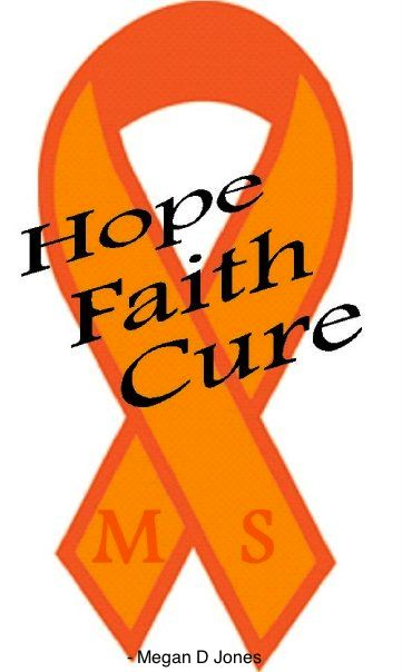 Hope Faith Cure Ribbon Lets Find A For Multiple Sclerosis