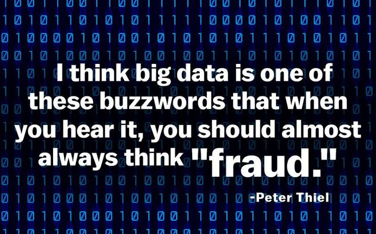 #PeterThiel #bigdata #buzzword