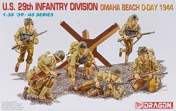 1/35 US 29th Infantry Division Omaha Beach 1944 (dml6211) DML Plastic Model Military Figures