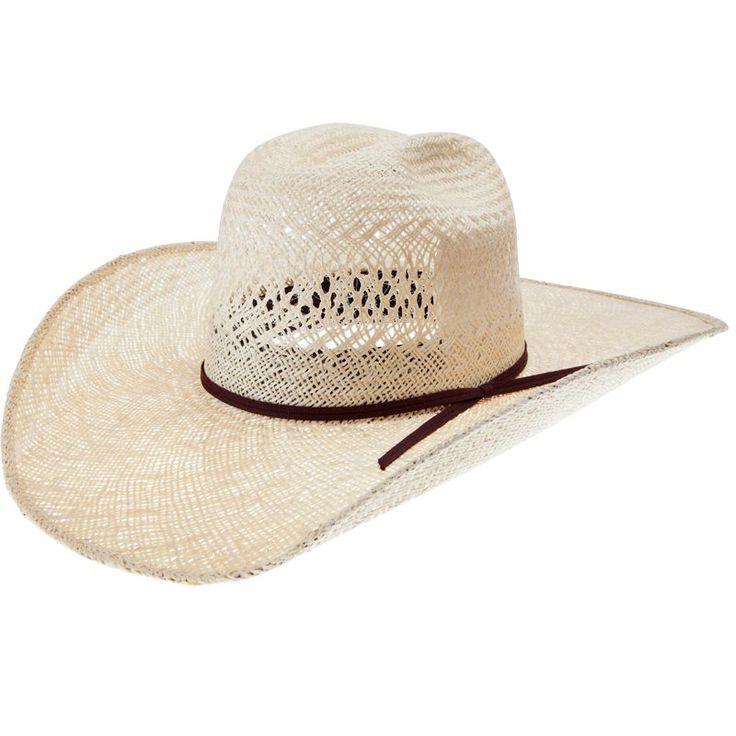 Rodeo King Jute Open Crown 4-1/2 Brim Straw Cowboy Hat