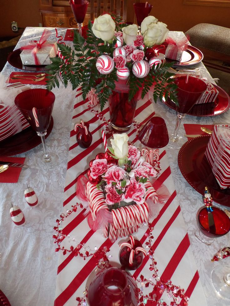 christmas candy cane table 287 best lets party center pieces and decorations images on