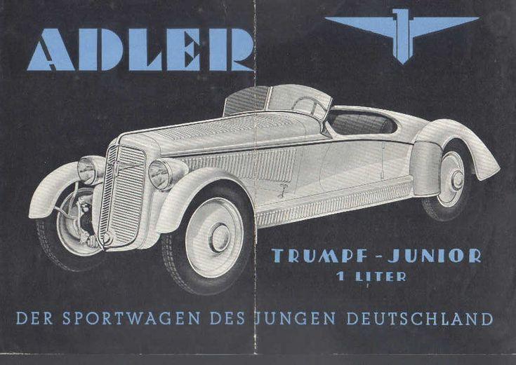 adler trumpf junior auto classic vintage pinterest. Black Bedroom Furniture Sets. Home Design Ideas