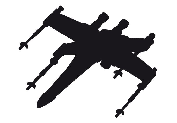 x wing sillouette | Wandtattoo Star Wars Clone Wars - X-Wing Silhouette als offizielles ...