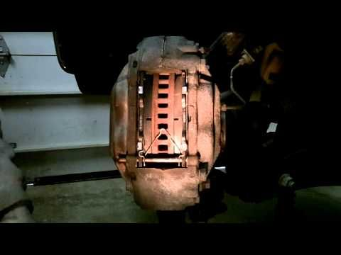 2007 Toyota Tundra 5.7L front brake pad removal - YouTube