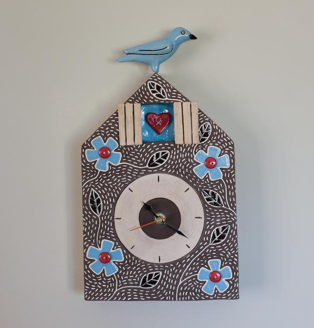 Perched Bird Clock