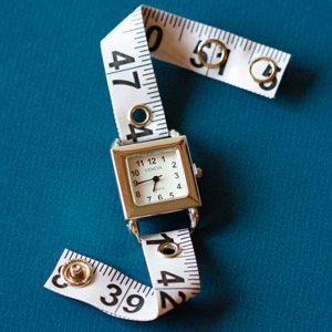 measuring tape for a new watch band