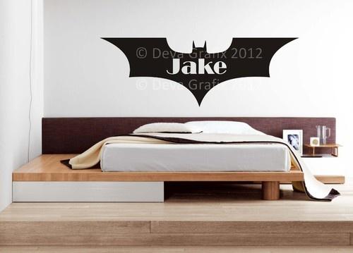 PERSONALISED BATMAN 2 Superhero Design Wall Art Sticker Mural Decal BOYS BEDROOM | eBay