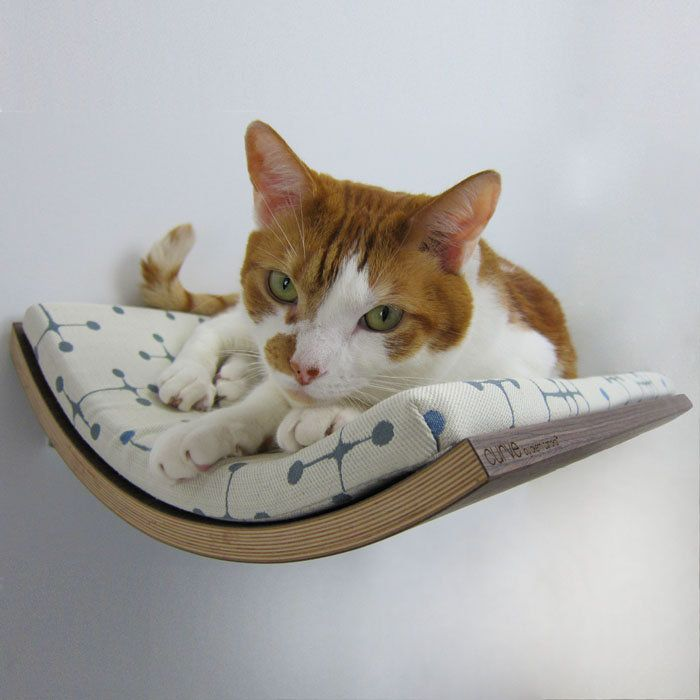 Your cat will love napping on this bed. You will love the stylish, space-saving design.