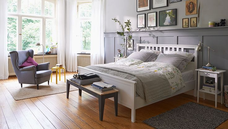 HEMNES Bettgestell im Schlafzimmer