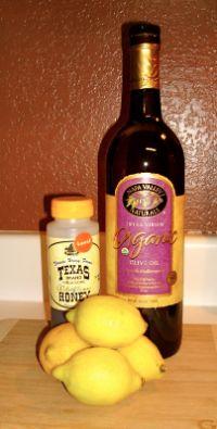Lemon, olive oil, and honey facial