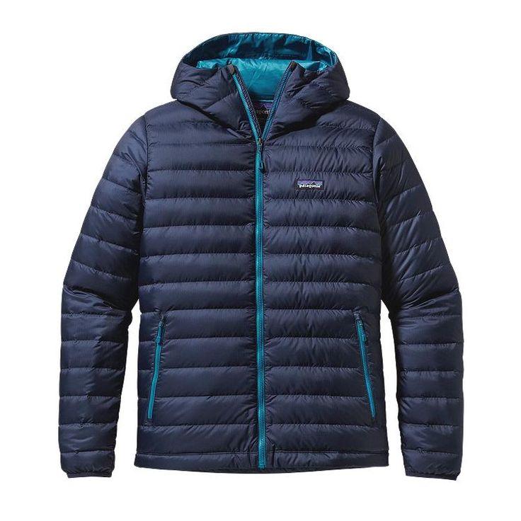 Patagonia Men's Down Sweater Hoody - Navy Blue