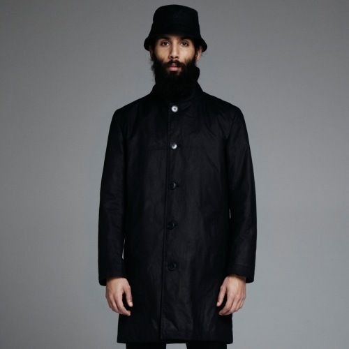 Stutterheim Inferno coat in black