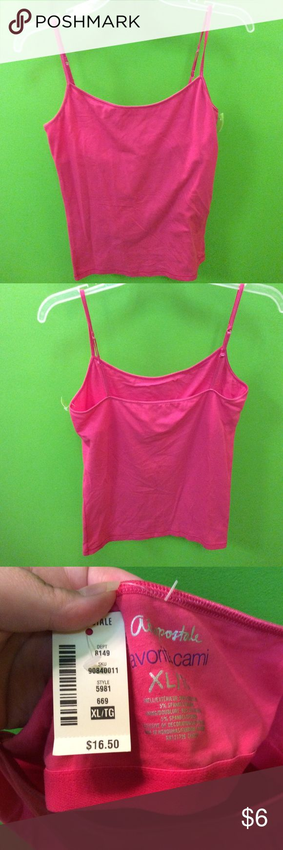 Aeropostale women's pink cami size XL New with tags super cute Aeropostale pink cami size XL Aeropostale Tops Tank Tops