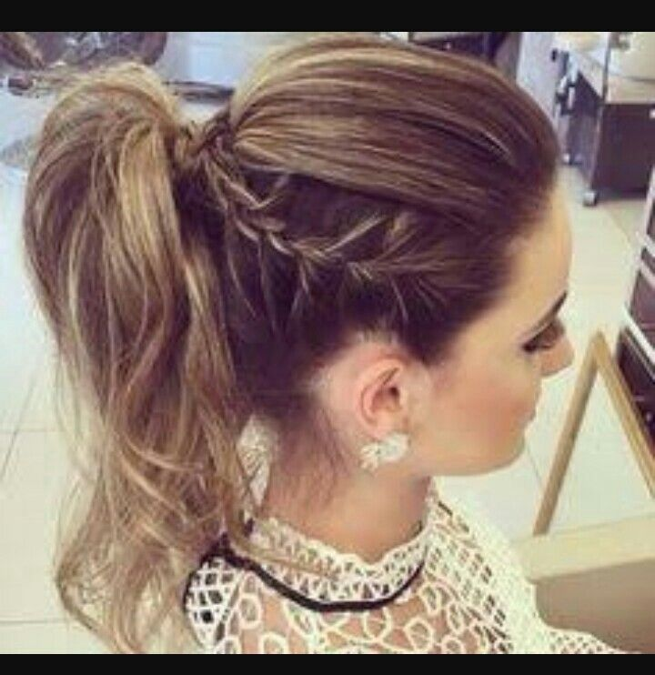 High ponytail braid