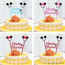 1 компл. микки минни маус пирожня топпер торт флаги душа ребенка детский день рождения ну вечеринку поставки торт выпечки ну вечеринку декоративные(China (Mainland))