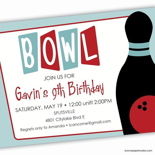 44 best Bowling Party images on Pinterest Bowling party - bowling invitation