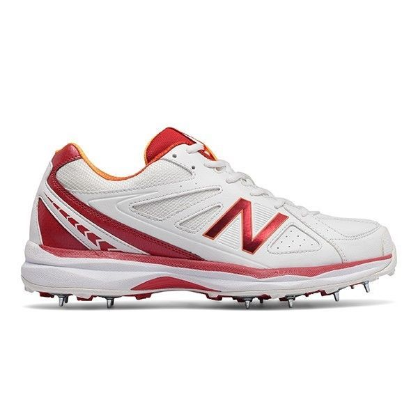 New Balance 2017 Ck4030 C2 Spike Cricket Shoes - White/Red - Uk 8