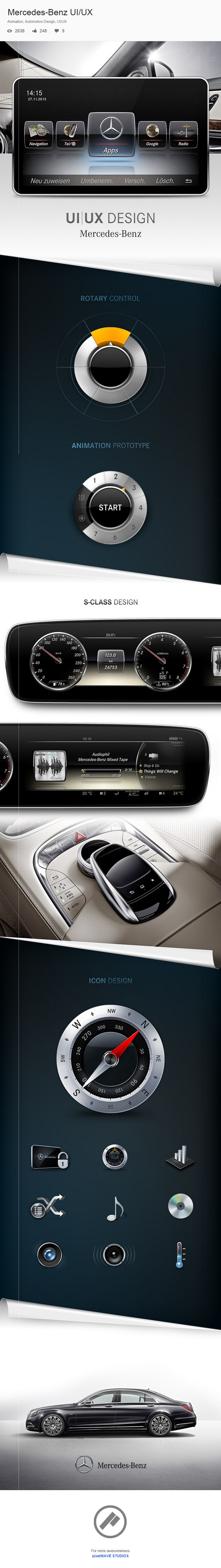 Mercedes-Benz UI/UX, designed by Denny Moritz