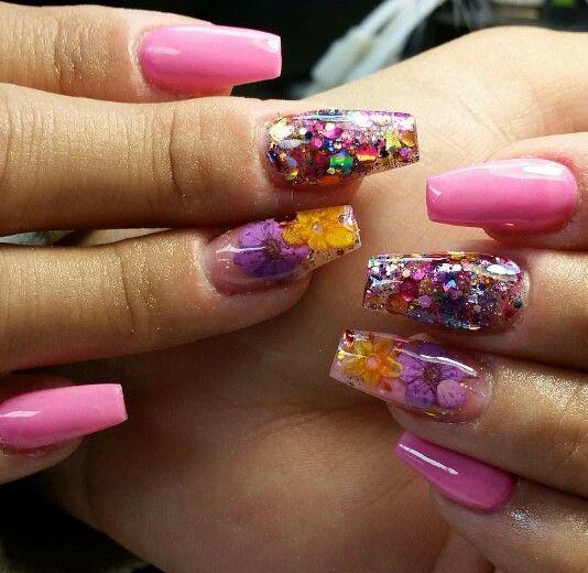 Encapsulated Flower Nails Nails Encapsulated Nails Flower Nails