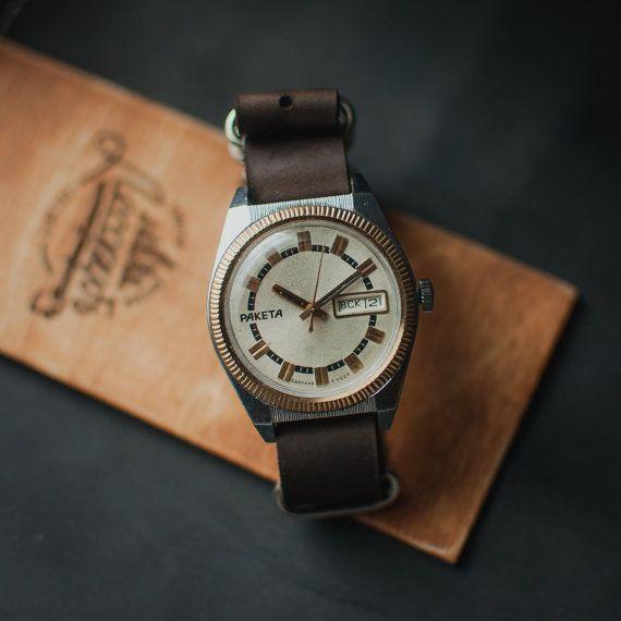 Soviet vintage watch, Raketa Rolex watch, gold watches, ussr watch, vintage mens watch, watches men, soviet watch mechanical