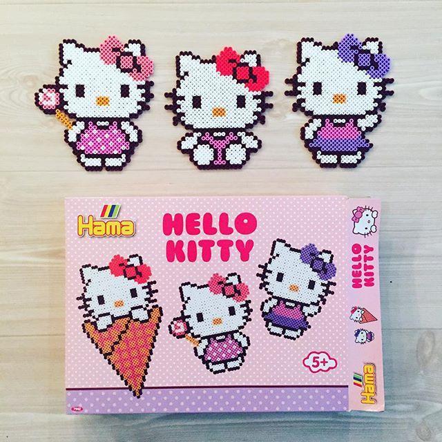 Hello Kitty hama perler beads by kittybeads