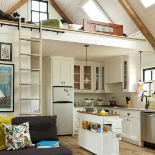 small house designs and space saving ideas for home decorating note loft over the kitchen if we cant do the whole house this might work - How To Live In Small Spaces