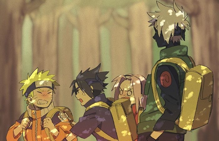 Naruto. Team 7 the old days