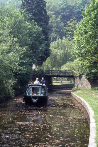 Monmouthshire & Brecon Canal in a narrowboat