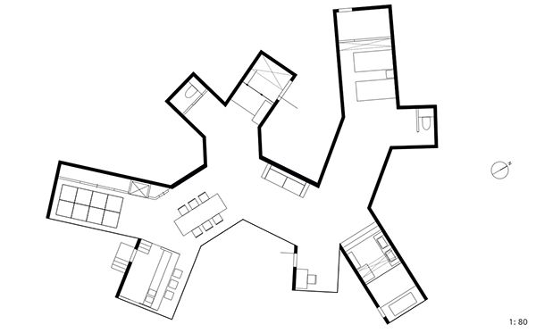 "THE ""O"" HOUSE // Sou Fujimoto on Behance CONTINUOUS FLR PLAN"