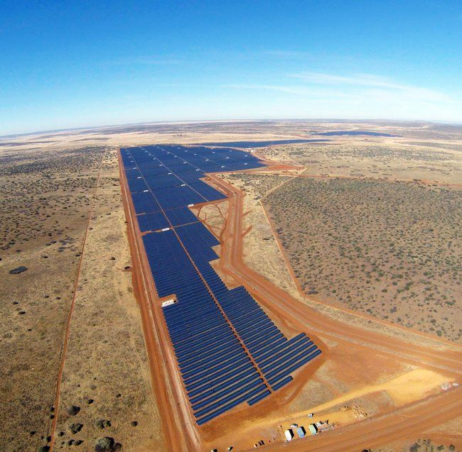 The Jasper solar farm, located near Kimberley in South Africa- Africa's largest solar farm, now fully operational