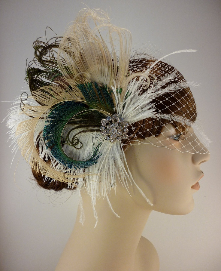 Derby facinator ideas - IceGreenEyes - feather facinator  LOVE LOVE LOVE