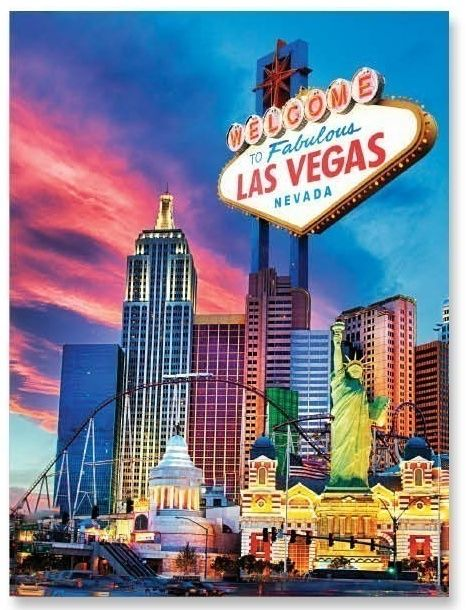 Farebné poťahy na postele Las Vegas