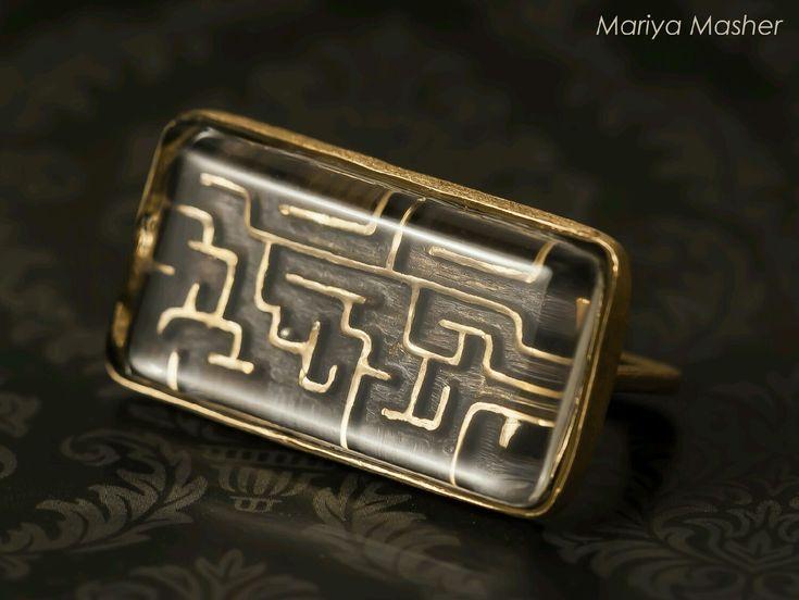 Купить Двойное кольцо LABIRINTHUS из бронзы - лабиринт, игра, кольцо-антистресс, антистресс, кольцо, перстень