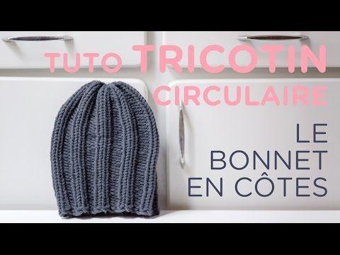 DIY tricot : bonnet en côtes au tricotin géant.