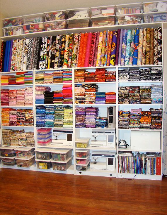 Someday I want my craft space this pretty and organized. :)