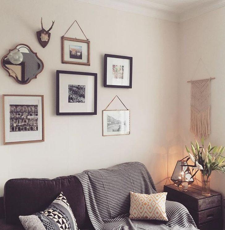 Grey Living Room Decor Gallery wall www.overatkates.com Online Interior Design