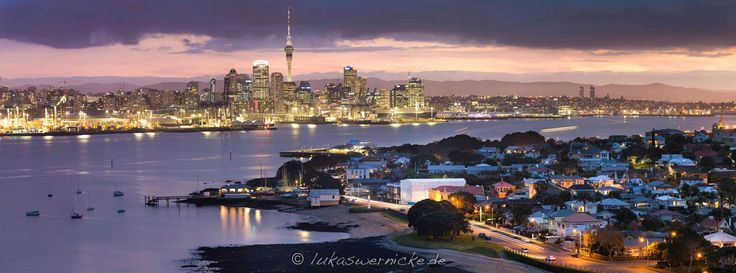 Lukas Wernicke, an Engineering student from Germany, took this amazing photo of the Auckland skyline