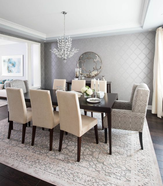 Best 25 dining room wallpaper ideas on pinterest wall paper dining room wallpaper grasscloth - Modern dining room ...