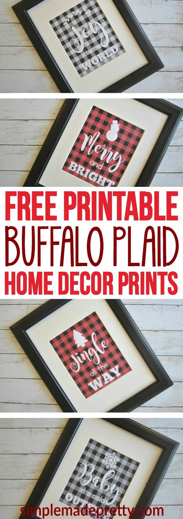 I love buffalo plaid and these DIY home decor prints were the perfect finishing touch to our Christmas decorations. Plaid home decor has been everywhere this holiday so I had mine printed as over-sized artwork (engineer prints at Staples). It was super cheap and easy ($3!) to make over sized art for the living room!  If you are on a budget, this is the perfect home decor DIY!  via @SMPblog