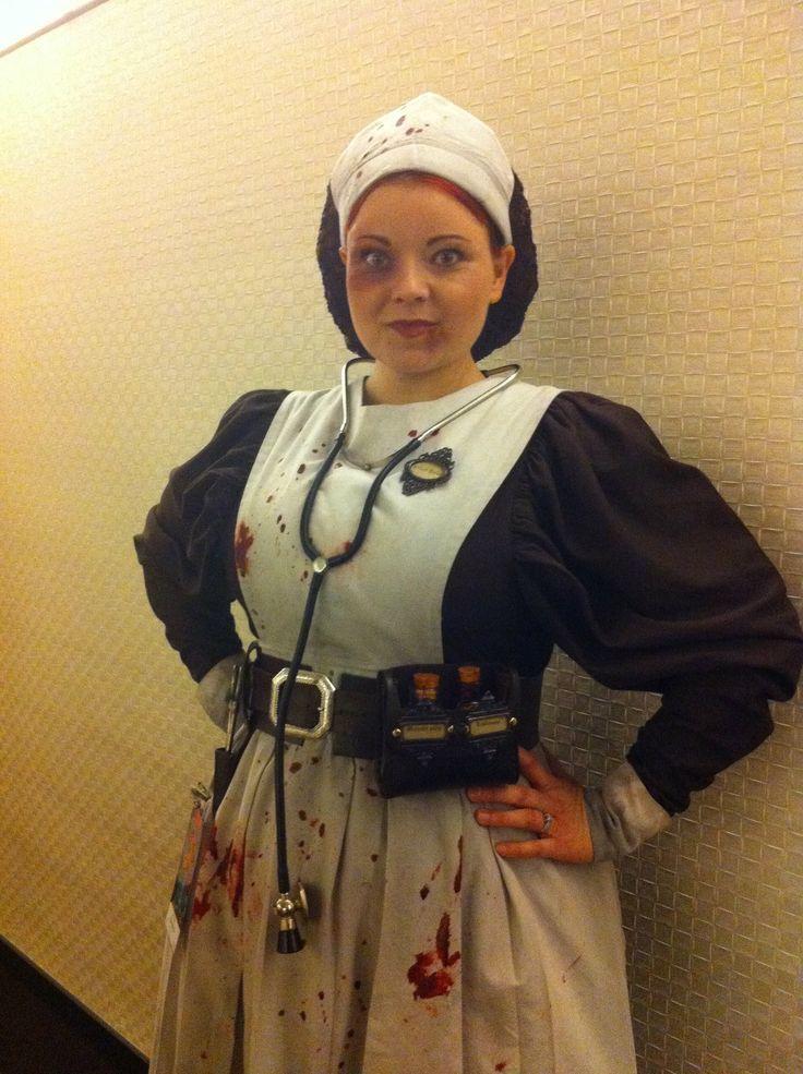 Victorian asylum nurse costume made for 2011 dragon con