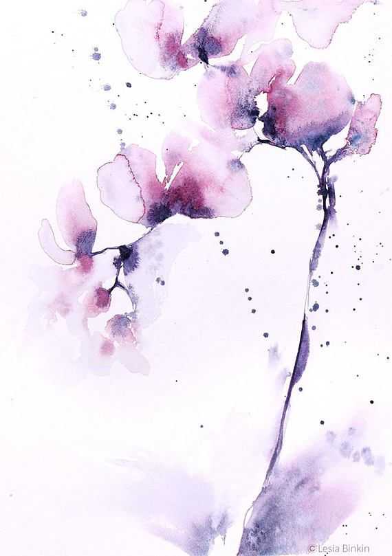 Watercolor Floral Print Abstract Watercolor Abstract Floral