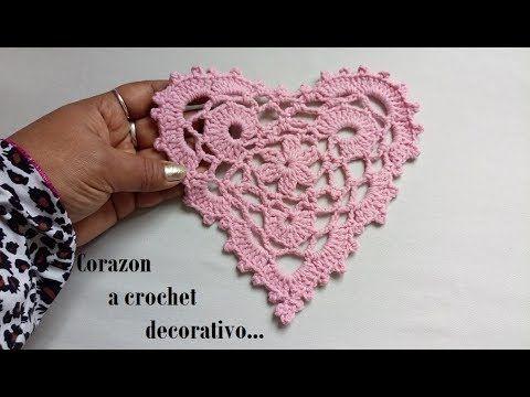 Corazón a crochet Decorativo