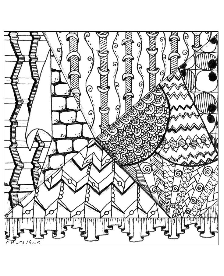 81 Best Zentangle Images On Pinterest