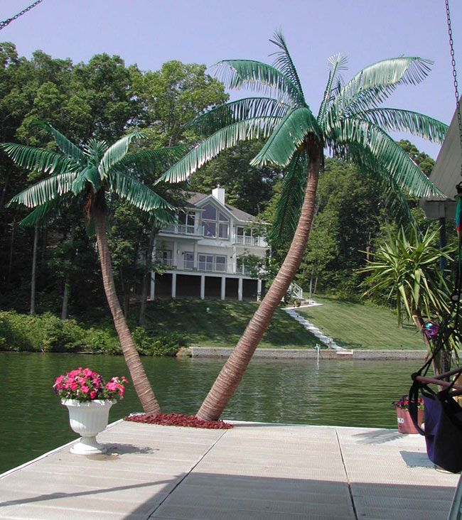 Large Metal Outdoor Palm Tree | Artificial Palm Trees Look Like Natural  Palms And All You