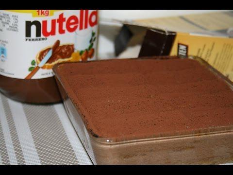 Tiramisu au Nutella et en verrine - YouTube